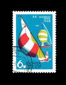 Vykort tryckta i ussren visar xx baltiska regatta, ca 1968 — Stockfoto