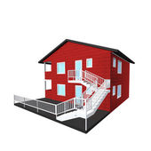 Model of a house — Stock Photo