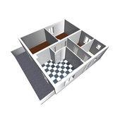 Modèle d'architecture montrant un appartement — Photo