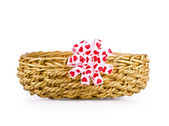 Basket for gifts — Stock Photo