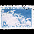 Stock Photo: Postcard printed in VIETNAM shows astronauts