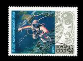 ソ連における印刷のポストカードは、宇宙時代の 15 年 — ストック写真