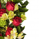 Roses and chrysanthemum — Stock Photo