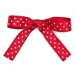 Red and white polka dot ribbon and bow — Stock Photo #28861723