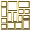 Set of gold frames — Stock Photo