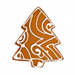 Gingerbread in the form of a fur-trees — Stock Photo