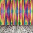 Multi-colored curved deformed wall — Stock Photo #28864765