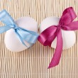 Egg Easter bow — Stock Photo