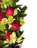 Roses and chrysanthemum — Stock Photo