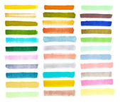 Set colorful watercolor brush — Stock Photo