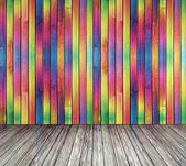 Multi-colored curved deformed wall — Stock Photo