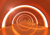 Orange solar hallway — Foto Stock