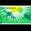 A stamp printed in Togo shows 1964-1965 I.Q.S.Y — Stock Photo