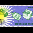 Stock Photo: Stamp printed in Togo shows 1964-1965 I.Q.S.Y