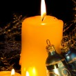 Golden Christmas Candles — Stock Photo