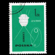 A stamp printed in Poland shows Lunnik 3 desselberger — Stock Photo