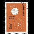 A stamp printed in Poland shows Lunnik 2 emblemat desselberger — Stock Photo #28878831