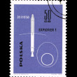 A stamp printed in Poland shows explorer 1 desselberger — Stock Photo #28878845