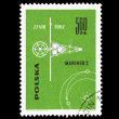 A stamp printed in Poland shows Mariner 2 — Stock Photo #28878867