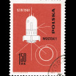 Stock Photo: Stamp printed in Poland shows Wostok 1