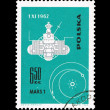 A stamp printed in Poland shows Mars 1 desselberger — Stock Photo #28878883