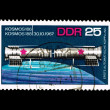 Stock Photo: Stamp printed in DDR, shows Kosmos 186 30.10.1967