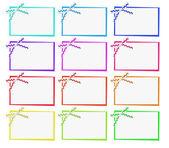 Cartões com fitas — Fotografia Stock
