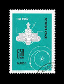 A stamp printed in Poland shows Mars 1 desselberger — Stock Photo