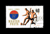 一枚邮票印在匈牙利,显示 vertel · 约瑟夫 — 图库照片