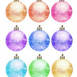 Collection of colored christmas ball — Stock Photo #35412877