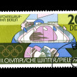 A stamp printed in DDR, shows XII Winter Olympic Games — Stock Photo