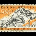 Постер, плакат: CZECHOSLOVAKIA CIRCA Olympics Games XVII