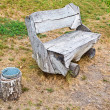 Rough wooden bench — Stock Photo