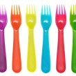Color forks — Stock Photo
