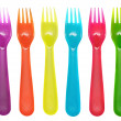 Color forks — Stock Photo #35414307