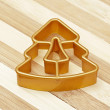 Gold form for cookies a star — Foto de Stock