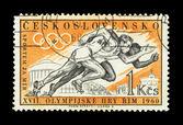 CZECHOSLOVAKIA - CIRCA , Olympics Games XVII — Stock Photo