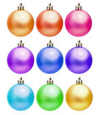 Collection of colored christmas ball — Stock Photo