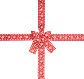 Red checkered bow — Stock Photo