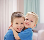 Three-year-old twins — Stock Photo
