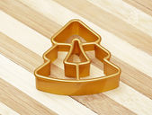 Gold form for cookies a star — Foto Stock