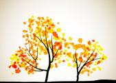 秋树背景 — 图库矢量图片