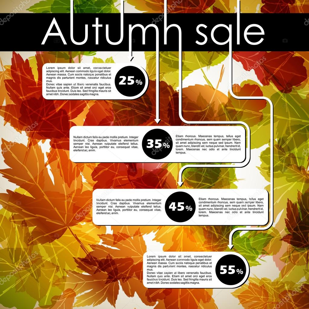 Autumn discount sale — Stock Vector #13187761
