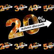 Autumn discount sale — 图库矢量图片