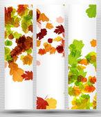 Höstens banner — Stockvektor