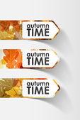 Etiqueta engomada del otoño — Vector de stock