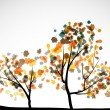 Autumn tree background — Stock Vector #13514874
