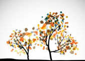 Autumn tree background — Stockvektor