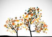 Jesienne drzewo tło — Wektor stockowy
