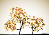 осенний фон дерева — Cтоковый вектор